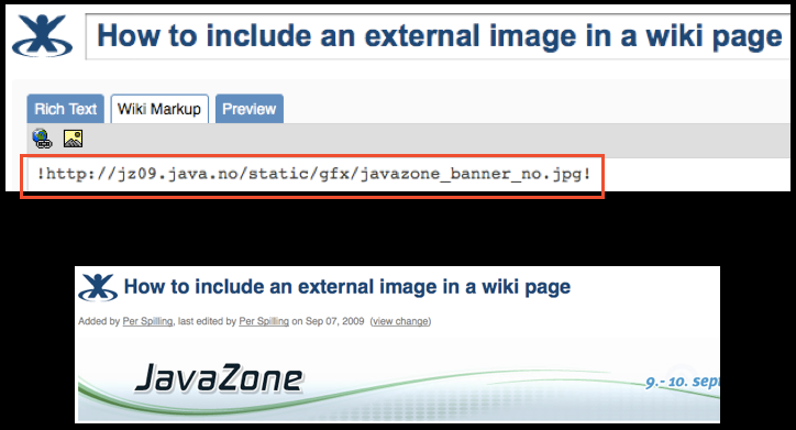 confluence include external page